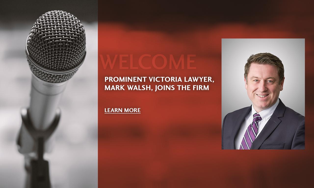 Mark Walsh Announcement