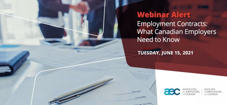 Employment Contracts: What Canadian Employers Need to Know – Webinar