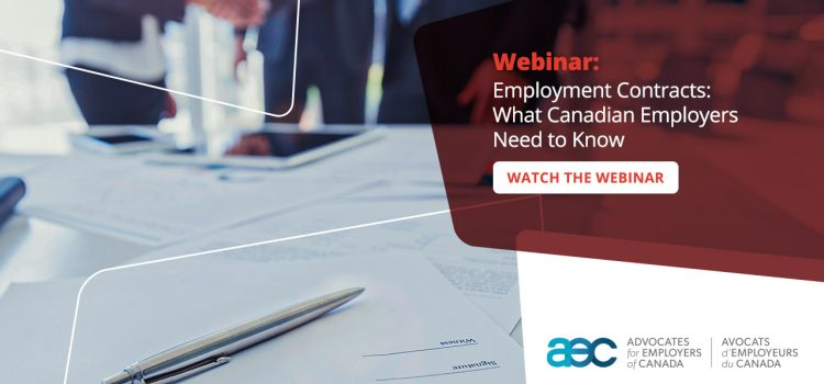 Watch the Webinar: Employment Contracts: What Canadian Employers Need to Know